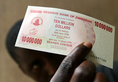 Zimbabwe bank issues $10million bill
